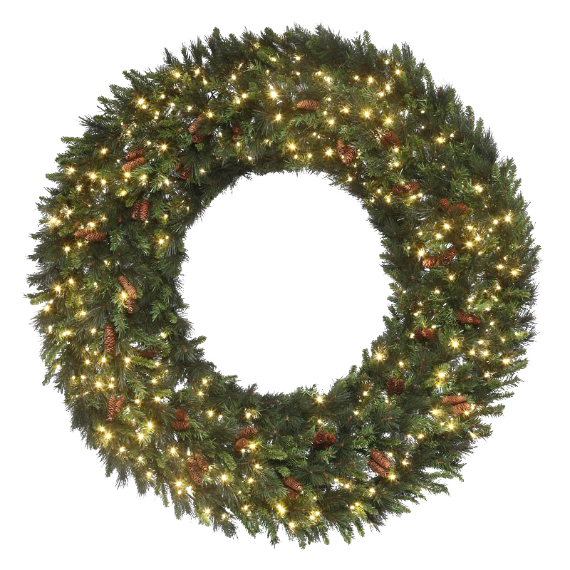Mixed noble wreath with warm-white LED Concaves.