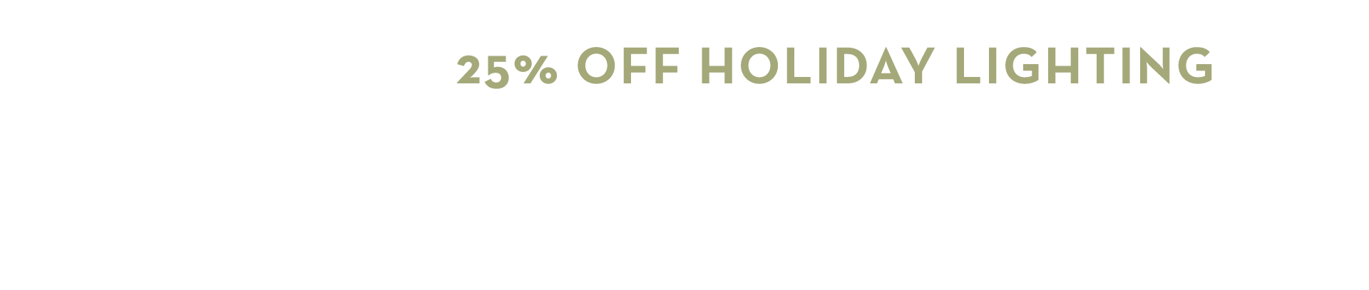 25% off holiday lighting