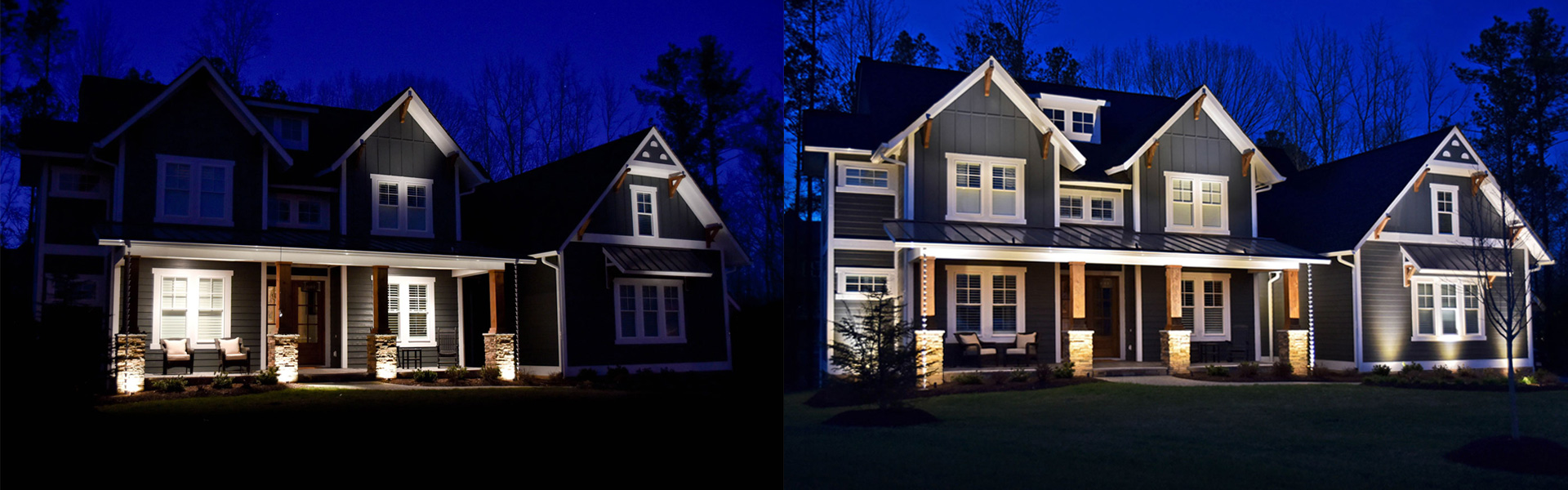 Before & After LED Landscape Lighting Maintenance