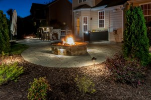 Outdoor Fire Feature Lighting