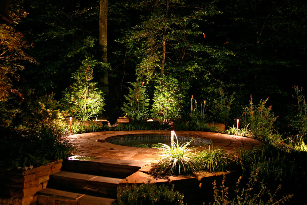 Patio lighting walkway lighting garden lighting and landscape lighting for a Dayton & Dayton Ohio - Residential u0026 Commercial Outdoor Lighting azcodes.com