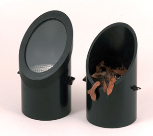 Lens covers residential commercial outdoor lighting a well light with and without a cover aloadofball Image collections